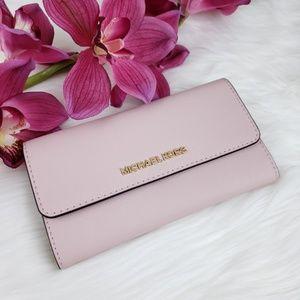 🌺NWT Michael Kors LG Trifold Wallet Blossom Pink